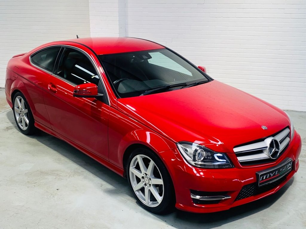 USED 2015 15 MERCEDES-BENZ C-CLASS 2.1 C220 CDI AMG SPORT EDITION 2d 168 BHP Rare 'Fire Opal Red' AMG Sport Edition Model, Great Spec