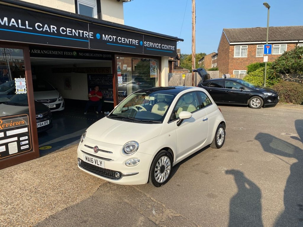 USED 2016 16 FIAT 500 1.2 LOUNGE 3d 69 BHP PANROOF - BLUETOOTH - USB - AUX - AIRCON
