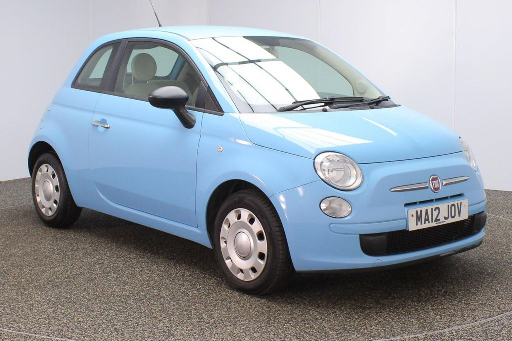 USED 2012 12 FIAT 500 1.2 POP 3DR 69 BHP SERVICE HISTORY + £30 12 MONTHS ROAD TAX + AIR CONDITIONING + RADIO/CD/MP3 + AUXILIARY PORT + ELECTRIC WINDOWS + ELECTRIC MIRRORS