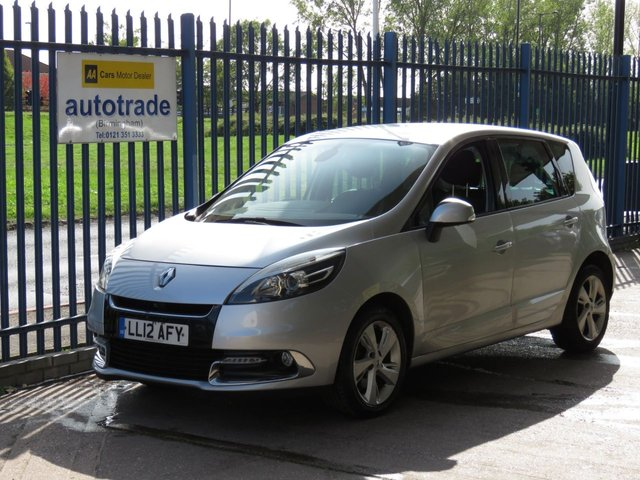 USED 2012 12 RENAULT SCENIC 1.5 DYNAMIQUE TOMTOM DCI 5d 110 BHP Tom Tom Sat Nav, Cruise Control, Air Conditioning.