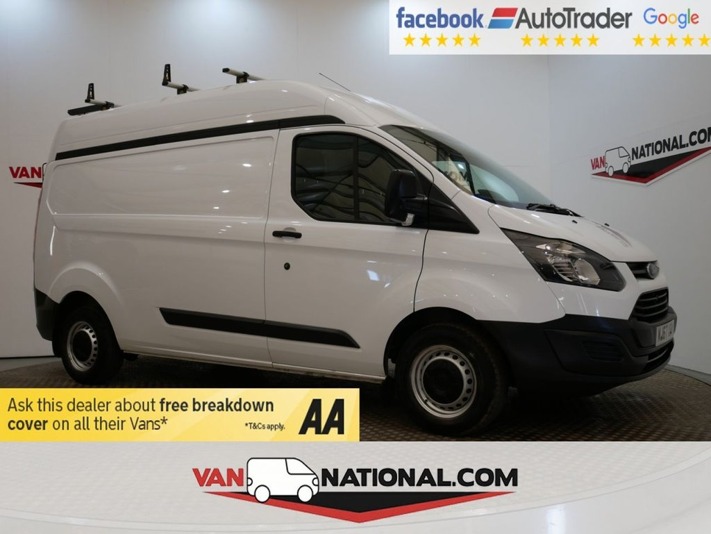 USED 2017 67 FORD TRANSIT CUSTOM 2.0 290 HR P/V 130 BHP (LWB HIGH ROOF EURO 6) * ONE OWNER * EURO 6 * LWB * HIGH ROOF * ZERO DEPOSIT FINANCE AVAILABLE *