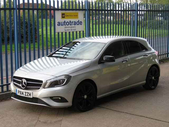 """USED 2014 14 MERCEDES-BENZ A-CLASS 1.8 A200 CDI BLUEEFFICIENCY SPORT 5dr 136 Sat nav prep Heated Part Leather Seats, Bluetooth, Front and Rear Parking Sensors, History HEATED SEATS, 1/2 LEATHER, 18"""" ALLOY WHEELS, FRONT AND REAR PARKING SENSORS, CD RADIO, BLUETOOTH, SERVICE HISTORY"""