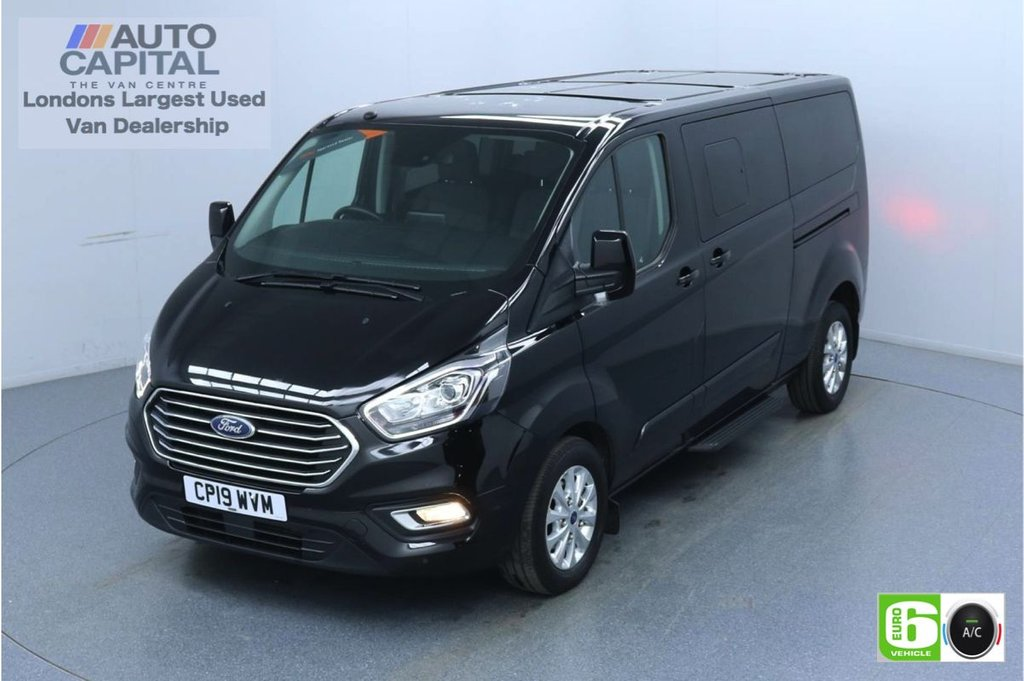 USED 2019 19 FORD TOURNEO CUSTOM 2.0 320 Titanium L2 Auto 130 BHP 9 Seats Minibus Low Emission Automatic | 9 Seats