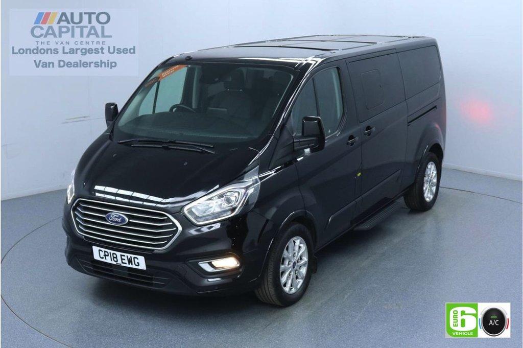 USED 2018 18 FORD TOURNEO CUSTOM 2.0 310 Titanium L2 130 BHP 9 Seats Minibus Euro 6 Low Emission 9 Seats | F-R Sensors