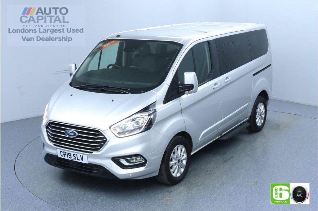 USED 2019 19 FORD TOURNEO CUSTOM 2.0 320 Titanium L1 Auto 130 BHP 8 Seats Minibus Low Emission Finance Available Online | Automatic | 8 Seats