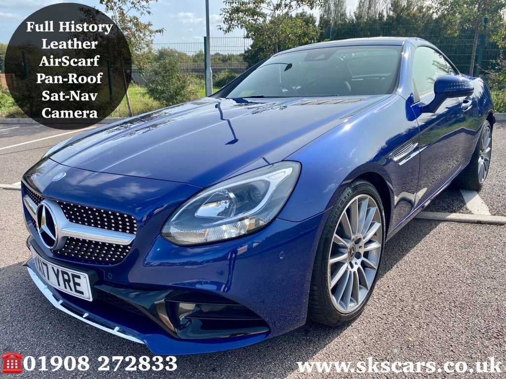USED 2017 17 MERCEDES-BENZ SLC 2.0 SLC 200 AMG LINE 2d 181 BHP **12 MONTHS NATIONAL WARRANTY**
