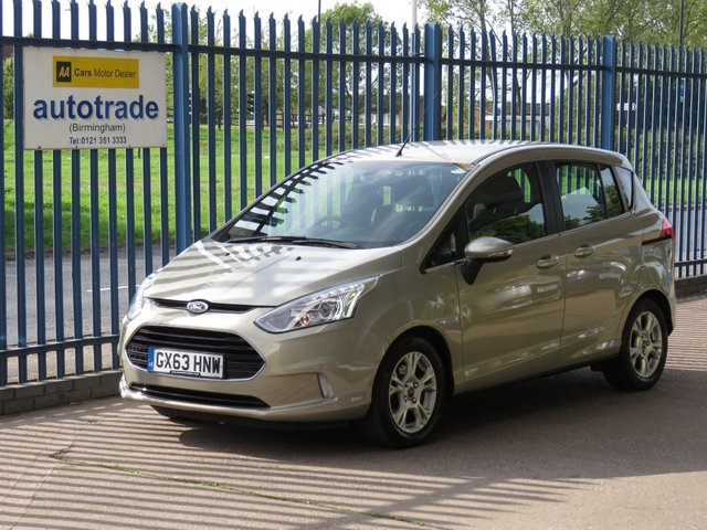 USED 2013 63 FORD B-MAX 1.0 ZETEC 5d 100 BHP ULEZ COMPLIANT, A/C, ALLOYS, HISTORY   COLOUR SAT NAV, BLUETOOTH WITH VOICE CONTROL AND USB, ALLOY WHEELS, CD RADIO, SERVICE HISTORY