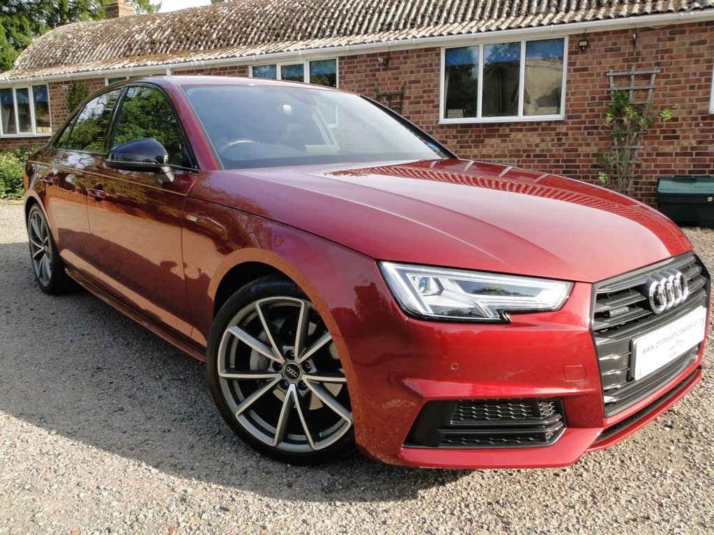 USED 2017 17 AUDI A4 2.0 TDI 190 Quattro S-Line Black Pack S-Tronic 4dr