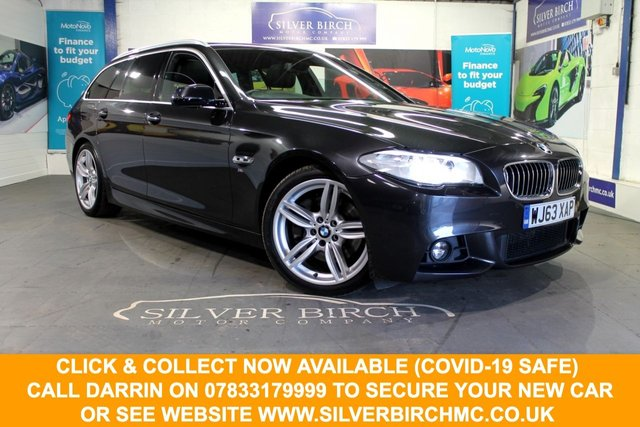USED 2013 63 BMW 5 SERIES 3.0 530D M SPORT TOURING 5d 255 BHP Pan Roof, Sports Seats, FSH