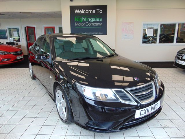 """USED 2011 11 SAAB 9-3 1.9 TURBO EDITION TTID 4d 160 BHP THIS GREAT LOOKING SAAB 9-3 TURBO EDITION TTID 160 BHP COMES WITH OCTOBER 2021 MOT + CRUISE CONTROL + CLIMATE CONTROL + FULL LEATHER TRIM + DRIVERS HEATED SEAT + RADIO/CD PLAYER + REMOTE CENTRAL LOCKING + ELECTIC WINDOWS + PRIVACY GLASS + ISOFIX + ABS + FRONT FOG LIGHTS + LOW MILEAGE + ONLY £30 ROAD TAX + 17"""" ALLOY WHEELS + SPARE WHEEL + REAR PARKING SENSORS + TRACTION CONTROL + DRIVER INFORMATION SYSTEM COMPUTER + ALARM + ELECTRIC FOLDING MIRRORS"""