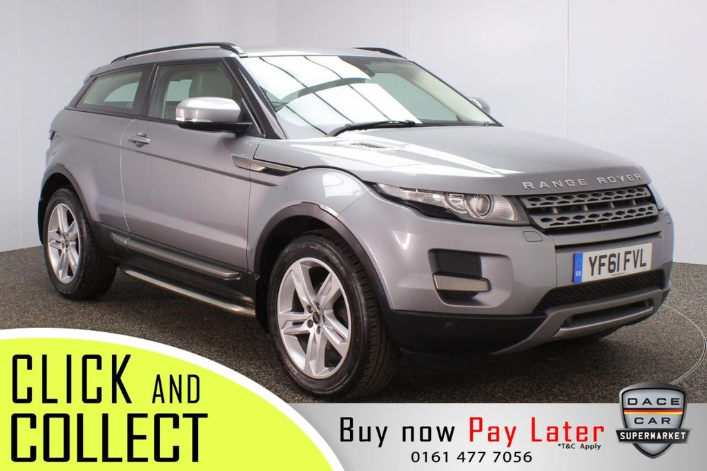 USED 2012 61 LAND ROVER RANGE ROVER EVOQUE 2.2 SD4 PURE TECH 3DR 190 BHP + FULL SERVICE HISTORY + SAT NAV + LEATHER FULL SERVICE HISTORY + HEATED LEATHER SEATS + SATELLITE NAVIGATION + PARKING SENSOR + MERIDIAN PREMIUM SPEAKERS + BLUETOOTH + CRUISE CONTROL + CLIMATE CONTROL + MULTI FUNCTION WHEEL + DAB RADIO + AUX/USB PORTS + ELECTRIC FRONT SEATS + XENON HEADLIGHTS + ELECTRIC WINDOWS + ELECTRIC DOOR MIRRORS + 19 INCH ALLOY WHEELS