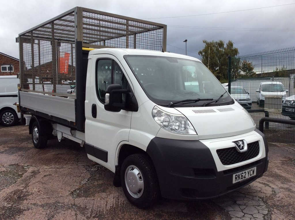 USED 2012 62 PEUGEOT BOXER 2.2 HDI 335 L3 130 BHP DROPSIDE CAGED BODY TAIL LIFT FREE 6 MONTH WARRANTY INCLUDING RECOVERY AND ASSIST