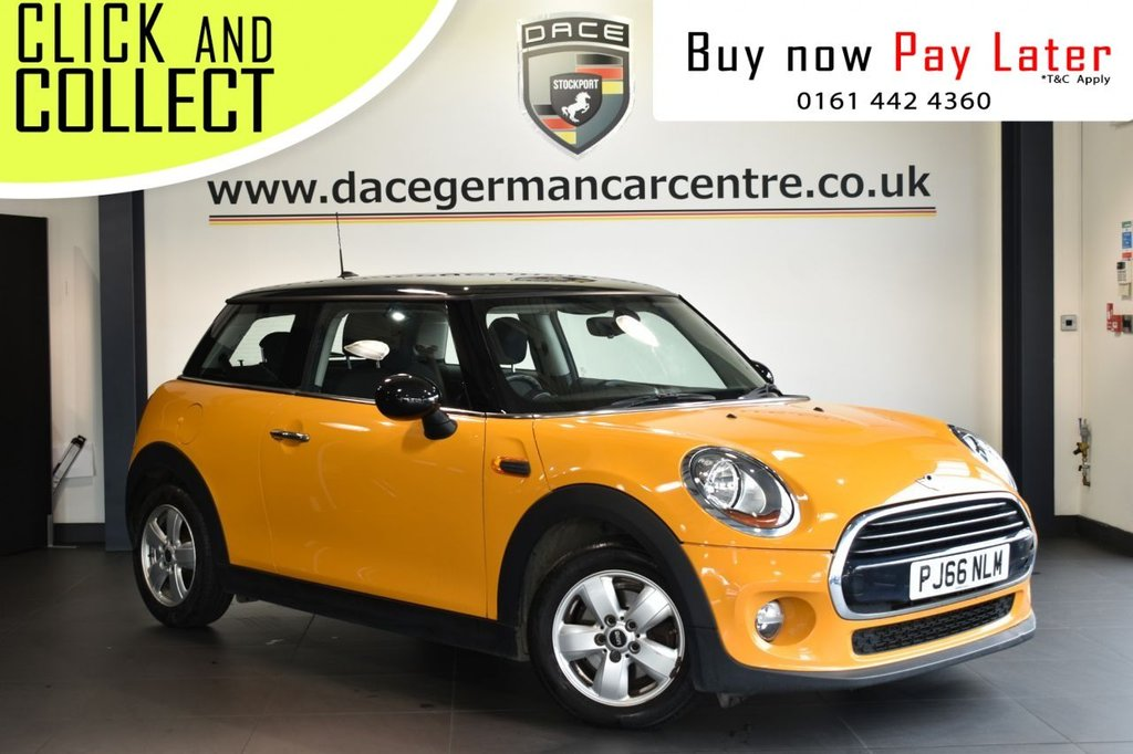 USED 2016 66 MINI HATCH COOPER 1.5 COOPER 3DR 134 BHP Finished in a stunning Volcanic orange styled with 15 inch alloys is this Mini Cooper. Upon opening the drivers door you are presented with grey cloth upholstery, digital documented service history, bluetooth, DAB radio, £20 yearly tax, on board computer, stop/start, air conditioning, electric door mirrors, stop/start, AUX/USB media
