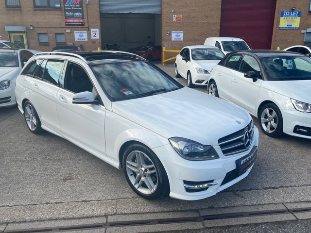 2014 14 MERCEDES-BENZ C-CLASS 2.1 C220 CDI AMG SPORT EDITION PREMIUM PLUS 5d 168 BHP WITH PAN ROOF FULL MB SERVICE HISTORY SAT NAV  REVERSE CAMERAS HEATED SEATS SOLD TO PETER FROM CHESIRE
