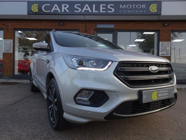 USED 2018 18 FORD KUGA 1.5 ST-LINE 5d 148 BHP ONE OWNER, LOW  MILEAGE ONLY 35K, NICE SPEC, SAT NAV, BLUETOOTH, ALLOYS, SIX SPEED MANUAL,JUST SERVICED, BALANCE OF MANUFACTURERS WARRANTY TILL JULY 2021, HPI CLEAR, 2 REMOTE KEYS