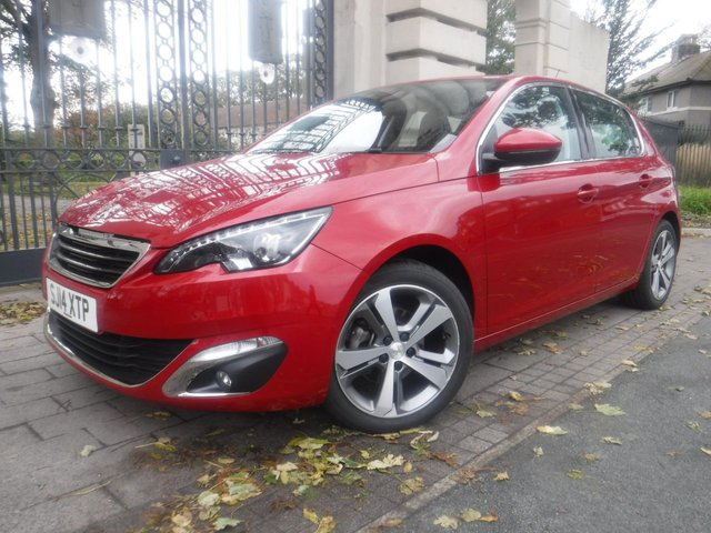 USED 2014 14 PEUGEOT 308 1.6 THP ALLURE 5d 125 BHP 1 OWNER*LEATHER*NAV*BTOOTH*HEATED & MASSAGE FRONT SEATS