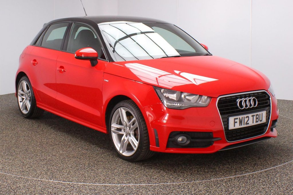 USED 2012 12 AUDI A1 1.6 SPORTBACK TDI S LINE 5DR 105 BHP FULL AUDI SERVICE HISTORY + FREE 12 MONTHS ROAD TAX + HALF LEATHER SEATS + PARKING SENSOR + BLUETOOTH + CRUISE CONTROL + AIR CONDITIONING + MULTI FUNCTION WHEEL + ELECTRIC WINDOWS + ELECTRIC/HEATED DOOR MIRRORS + 17 INCH ALLOY WHEELS