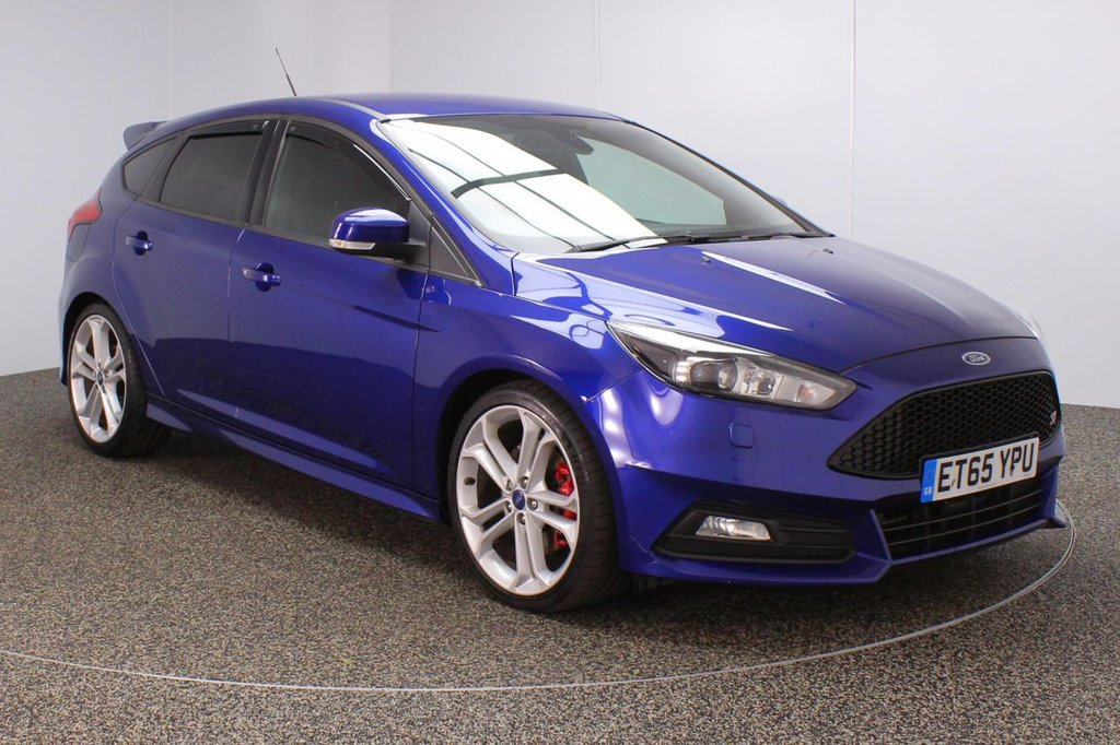 USED 2016 65 FORD FOCUS 2.0 ST-3 5DR 247 BHP SERVICE HISTORY + HEATED LEATHER SEATS + RECARO SPORT SEATS + SATELLITE NAVIGATION + PARKING SENSOR + BLUETOOTH + CRUISE CONTROL + CLIMATE CONTROL + MULTI FUNCTION WHEEL + XENON HEADLIGHTS + PRIVACY GLASS + ELECTRIC FRONT SEATS + DAB RADIO + USB/AUX/SD PORTS + ELECTRIC WINDOWS + ELECTRIC/HEATED/FOLDING DOOR MIRRORS + 19 INCH ALLOY WHEELS