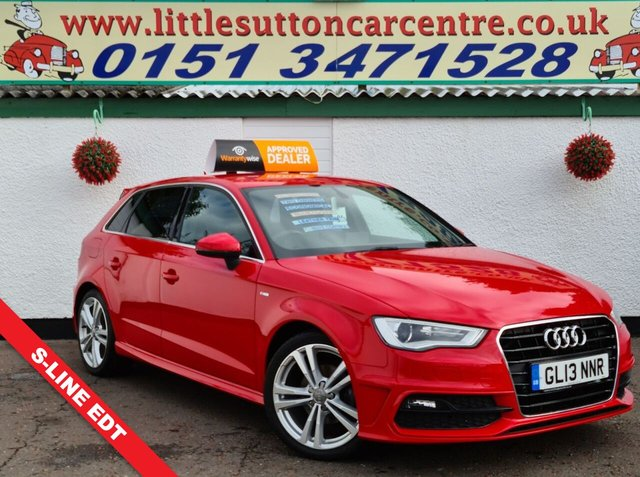 USED 2013 13 AUDI A3 2.0 TDI S LINE 5d 148 BHP FULL SERVICE HSITORY, SAT-NAV, DIESEL, FINANCE AVAILABLE