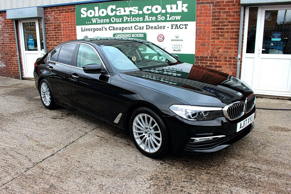 USED 2017 17 BMW 5 SERIES 2.0 520D SE EFFICIENTDYNAMICS 4d AUTO 188 BHP +NEW SHAPE +AUTO +SPOTLESS.