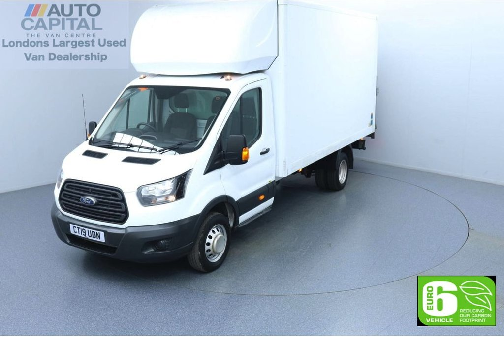 USED 2019 19 FORD TRANSIT 2.0 350 RWD L4 X-LWB 130 BHP Euro 6 Low Emission Luton Finance Available Online | Twin Wheels | Rear Tail Lift