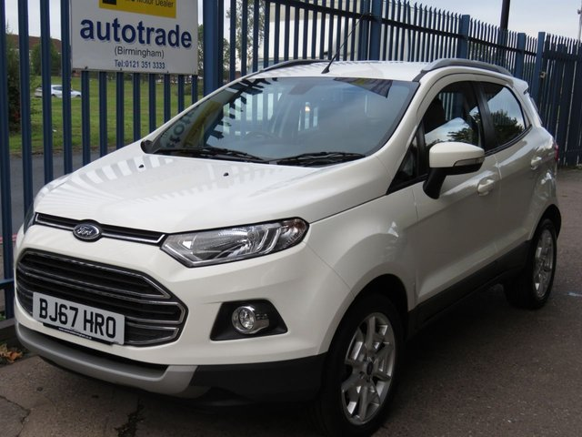 USED 2017 67 FORD ECOSPORT 1.5 TITANIUM TDCI 5d 94 BHP ULEZ COMPLIANT, REAR SENSORS, HEATED SEATS, BLUETOOTH HEATED HALF LEATHER SEATS, CRUISE CONTROL, BLUETOOTH WITH USB AND VOICE CONTROL, ALLOY WHEELS,
