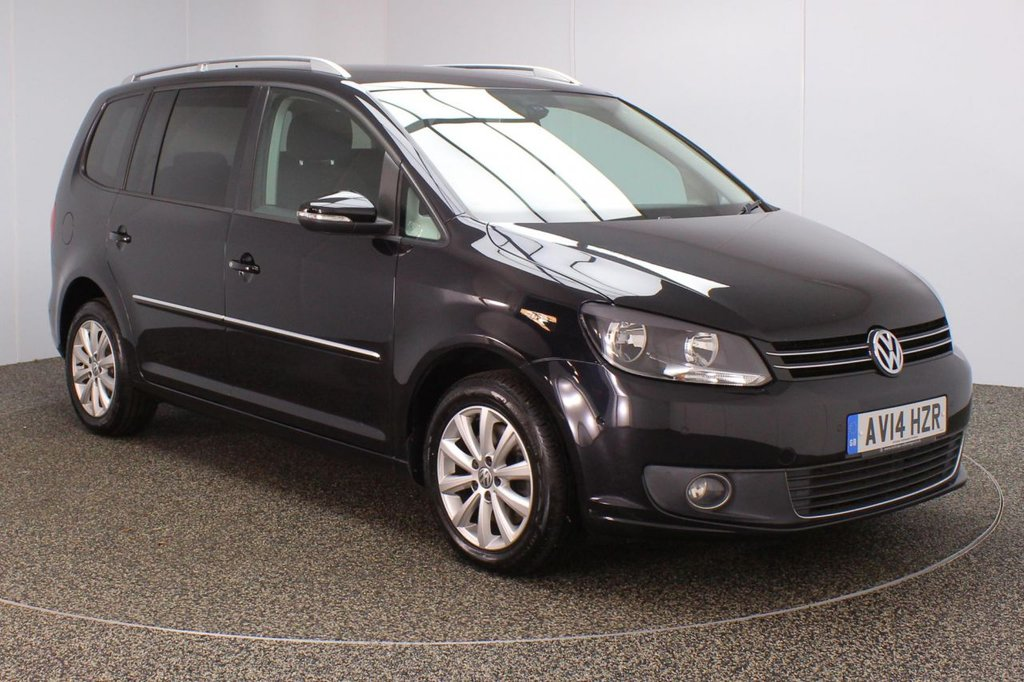 USED 2014 14 VOLKSWAGEN TOURAN 2.0 SPORT TDI BLUEMOTION TECHNOLOGY DSG 5DR AUTO 138 BHP SERVICE HISTORY + 7 SEATS + PARK ASSIST + PARKING SENSOR + BLUETOOTH + CRUISE CONTROL + CLIMATE CONTROL + MULTI FUNCTION WHEEL + PRIVACY GLASS + DAB RADIO + ELECTRIC WINDOWS + ELECTRIC/HEATED DOOR MIRRORS + 16 INCH ALLOY WHEELS