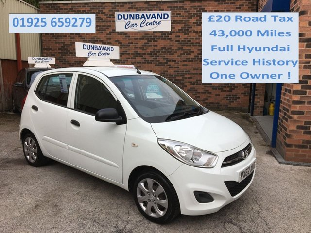 USED 2012 62 HYUNDAI I10 1.2 CLASSIC 5d 85 BHP Only £20 Road Tax, One Private Owner, Full Hyundai Service History, Only 43,000 Miles !