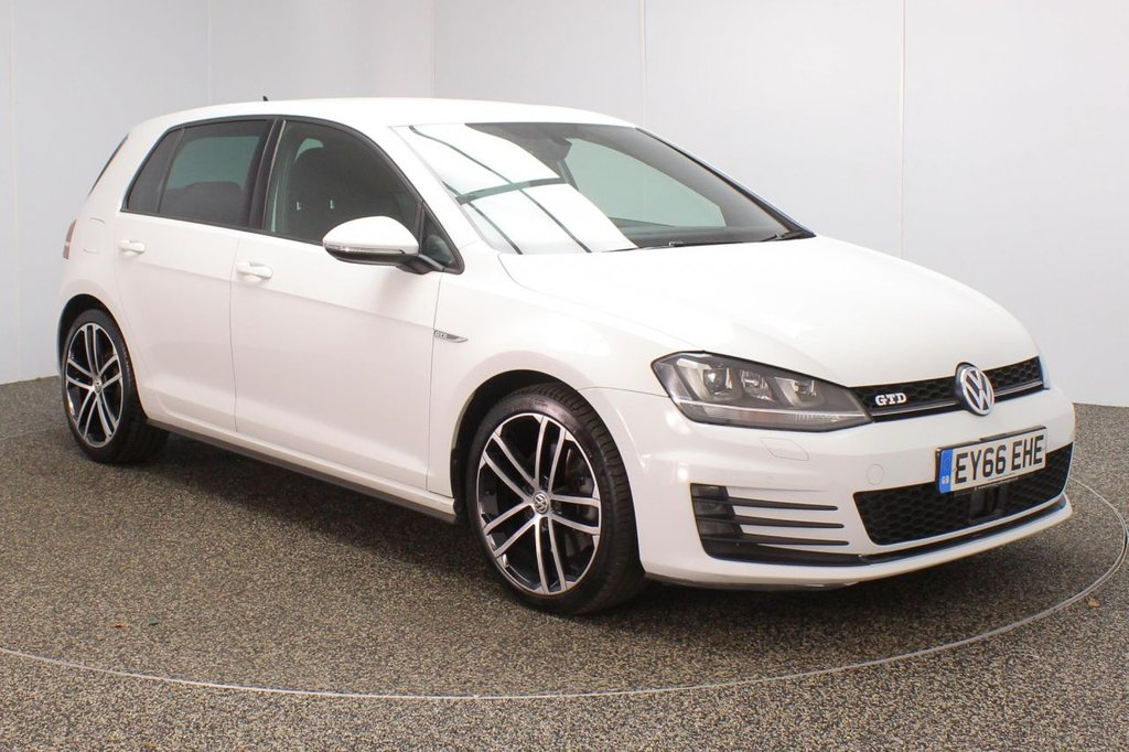 USED 2016 66 VOLKSWAGEN GOLF 2.0 GTD DSG 5DR 1 OWNER AUTO 182 BHP FULL SERVICE HISTORY + HEATED FRONT SEATS + PARKING SENSOR + BLUETOOTH + CRUISE CONTROL + CLIMATE CONTROL + MULTI FUNCTION WHEEL + XENON HEADLIGHTS + PRIVACY GLASS + DAB RADIO + ELECTRIC WINDOWS + ELECTRIC/HEATED DOOR MIRRORS + ALLOY WHEELS