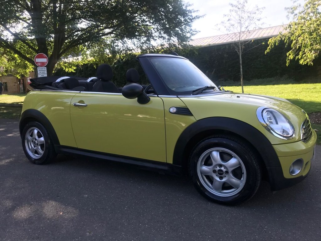 USED 2010 10 MINI CONVERTIBLE 1.6 ONE 2d 98 BHP Low Insurance Group, Low Mileage !