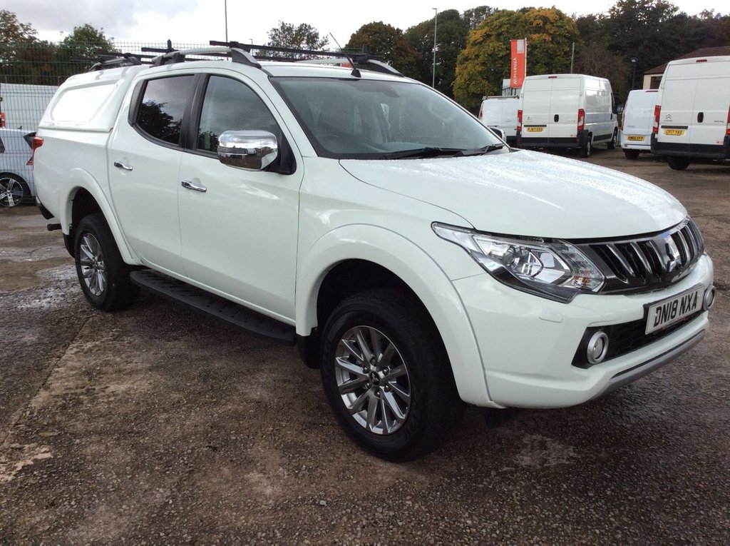 USED 2018 18 MITSUBISHI L200 2.4 DI-D 4WD WARRIOR DCB 178 BHP TRUCKMAN TOP ROOF RACK 1 OWNER  WARRANTY GREAT SPECIFICATION