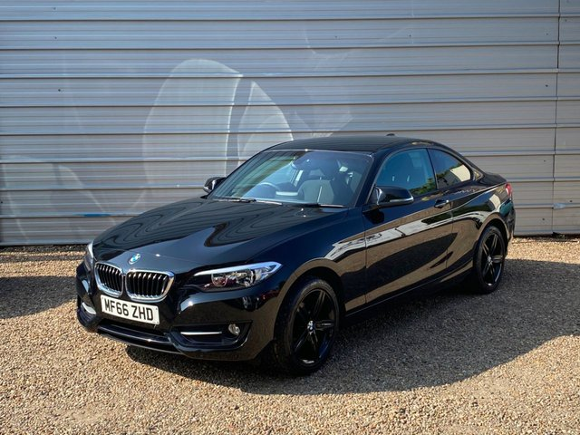 USED 2016 66 BMW 2 SERIES 1.5 218I SPORT 2d 134 BHP M2 Style Mirrors+Black Alloy