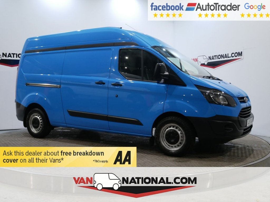 USED 2015 15 FORD TRANSIT CUSTOM 2.2 330 LR P/V 125 BHP L2 H2 HEAVY WEIGHT AIR CON 6DR * ONE OWNER * 330 * AIR CON * LWB * ZERO DEPOSIT FINANCE AVAILABLE *