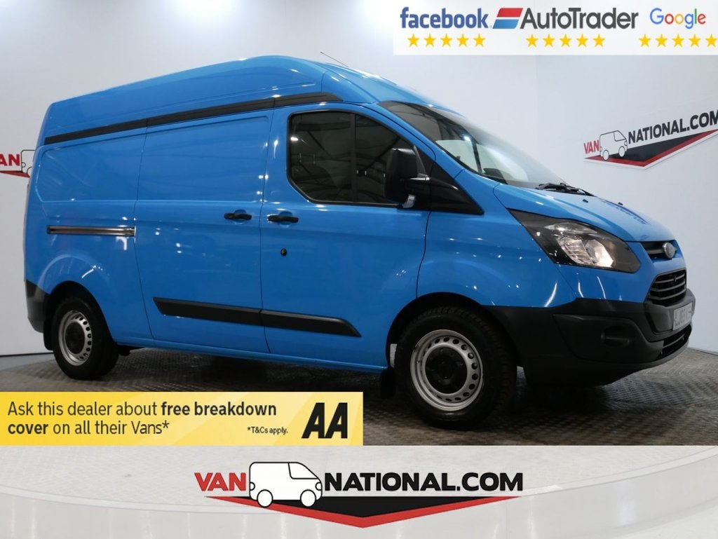 USED 2015 65 FORD TRANSIT CUSTOM 2.2 330 LR P/V 125 BHP L2 H2 (LWB HIGH ROOF HEAVY WEIGHT AIR CONDITIONING 6DR) * ONE OWNER * AIR CON * LWB * 330 * ZERO DEPOSIT FINANCE AVAILABLE *