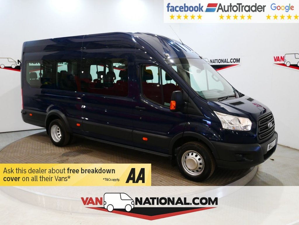 USED 2015 15 FORD TRANSIT 2.2 460 H/R BUS 17 STR 125 BHP L4 H3 MINIBUS *EURO 6* * ONE OWNER * EURO 6 * 17 SEATS * READY TO DRIVE AWAY TODAY *