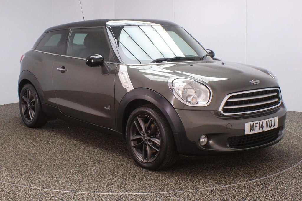 USED 2014 14 MINI PACEMAN 1.6 COOPER ALL4 CHILI PACK 3DR 121 BHP FULL MAIN DEALER SERVICE HISTORY + HALF LEATHER SEATS + PARKING SENSOR + BLUETOOTH + CRUISE CONTROL + CLIMATE CONTROL + MULTI FUNCTION WHEEL + DAB RADIO + AUX/USB PORTS + ELECTRIC WINDOWS + ELECTRIC/HEATED DOOR MIRRORS + 17 INCH ALLOY WHEELS
