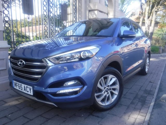 USED 2015 65 HYUNDAI TUCSON 1.7 CRDI PREMIUM BLUE DRIVE 5d 114 BHP *** FINANCE & PART EXCHANGE WELCOME *** FULL BLACK LEATHER SAT/NAV REVERSE CAMERA BLUETOOTH PHONE HEATED SEATS FRONT & REAR DAB RADIO PARKING SENSORS