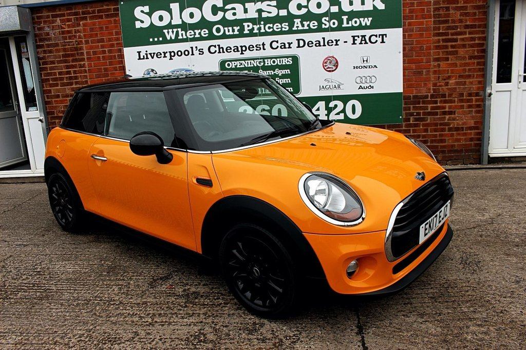 USED 2017 17 MINI HATCH COOPER 1.5 COOPER 3d 134 BHP +ONE OWNER +BLUETOOTH DAB.
