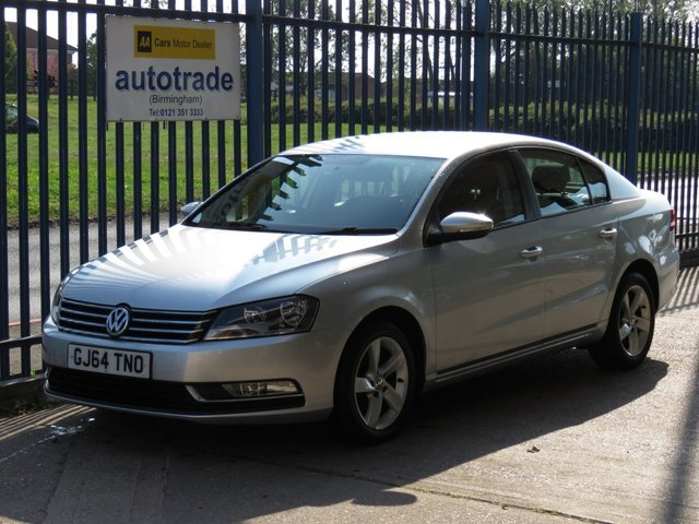 USED 2014 64 VOLKSWAGEN PASSAT 1.6 S TDI BLUEMOTION TECHNOLOGY 4d 104 BHP AIR CON, HISTORY, ALLOYS  AIR CONDITIONING, BLUETOOTH, DAB RADIO, AUX IN, ALLOY WHEELS, SERVICE HISTORY,