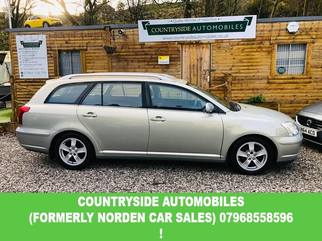 USED 2006 55 TOYOTA AVENSIS 2.0 T3-X D-4D 5d 114 BHP Here we have a clean abd tidy example of what is probably the most reliable car in the world , finished in a metallic silver with dual climate control, 6 so manual gearbox, srmteeribg wheel controls Alloy wheels with 2 new tyres and two very good, last owner of 6 years and maintained by Peel garage all this time, and though they are regarded as one of the best garages in Rossendsle and will not cut corners. Good all round condition drives superb. Comes with new MOT and 30 months warranty!