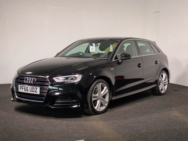 USED 2016 66 AUDI A3 1.6 TDI S LINE 5d 109 BHP HALF LEATHER + S LINE STYLING + CRUISE CONTROL + DAB