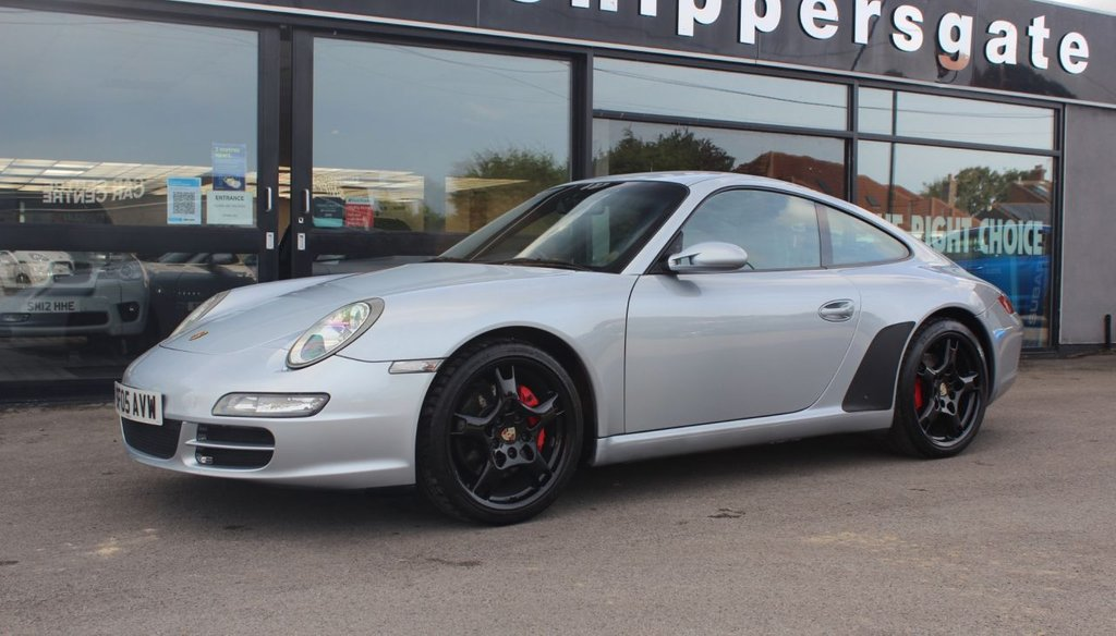 USED 2005 05 PORSCHE 911 3.8 CARRERA 2 S 2d 355 BHP Polar Silver Metallic,  Previously Supplied By Ourselves in 2016, PCM Navigation Module, Sports Seats,Telephone Module, Sports Exhaust, Top Tinted Windscreen, Full Service History, Xenon Headlights With Headlight Washer System History Details - Porsche Centre Glasgow 19/04/07 @ 16608 miles, Porsche Centre Norwich 24/04/09 @ 25146 miles, Porsche Centre Cambridge 01/08/11 @ 31933 miles, Porsche Centre Mid Sussex 28/05/13 @ 45867miles, Wimbledon Carriage Co 11/09/15 @ 57865, Porsche Centre Newcastl