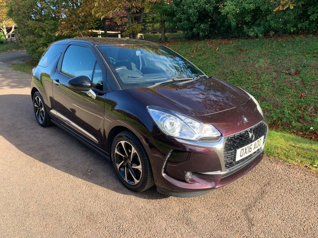 USED 2016 16 DS DS 3 1.6 BLUEHDI ELEGANCE S/S 3d 98 BHP ** MOT ** FULL SERVIVCE HISTORY ** £0 ROAD FUND **