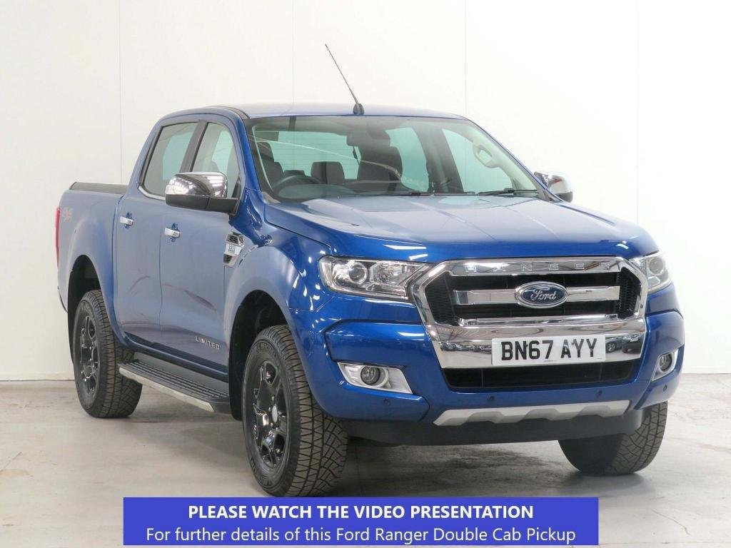 USED 2017 67 FORD RANGER 3.2 TDCi Limited 1 Double Cab Pickup Auto 4WD 4dr NAV*CAMERA*COVER*TOW*OFF-ROAD
