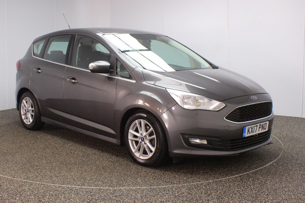 USED 2017 17 FORD C-MAX 1.0 ZETEC 5DR 1 OWNER 100 BHP FULL SERVICE HISTORY + £30 12 MONTHS ROAD TAX + SATELLITE NAVIGATION + BLUETOOTH + CRUISE CONTROL + MULTI FUNCTION WHEEL + AIR CONDITIONING + DAB RADIO + ELECTRIC WINDOWS + ELECTRIC MIRRORS + 16 INCH ALLOY WHEELS