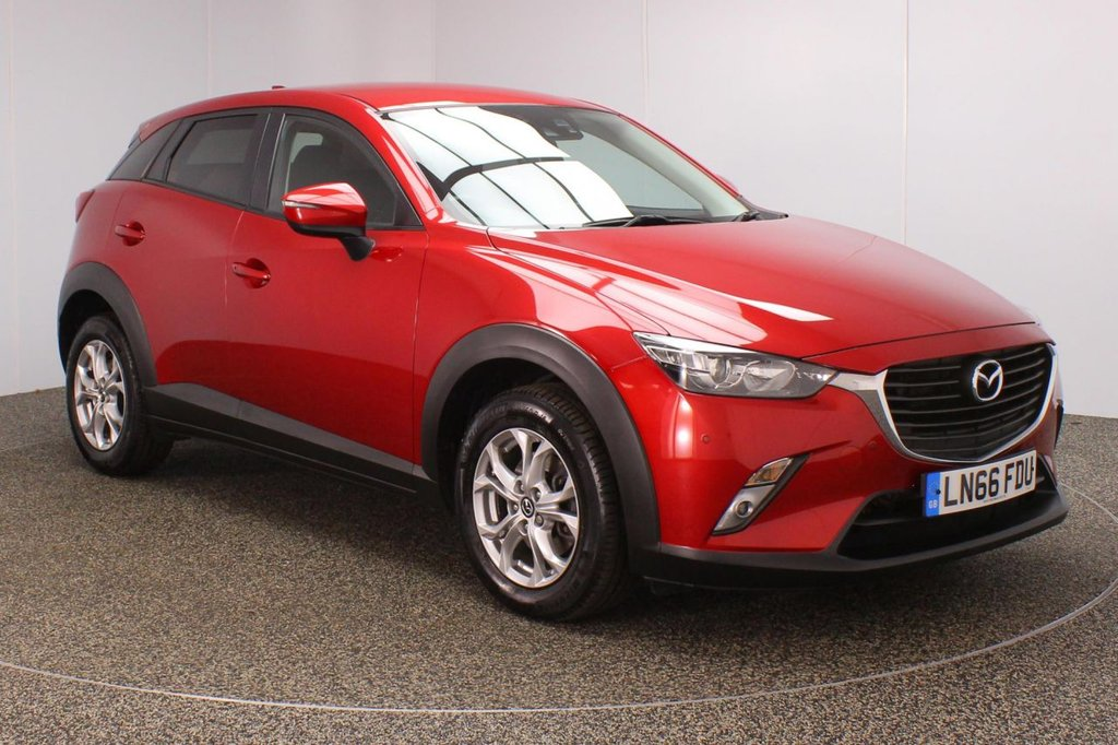 USED 2016 66 MAZDA CX-3 1.5 D SE-L NAV 5DR 1 OWNER 104 BHP FULL SERVICE HISTORY + £20 12 MONTHS ROAD TAX + SATELLITE NAVIGATION + HEATED FRONT SEATS + REVERSE CAMERA + LANE ASSIST SYSTEM + PARKING SENSOR + BLUETOOTH + CRUISE CONTROL + CLIMATE CONTROL + MULTI FUNCTION WHEEL + PRIVACY GLASS + XENON HEADLIGHTS + DAB RADIO + AUX/USB PORTS + ELECTRIC WINDOWS + ELECTRIC/HEATED/FOLDING DOOR MIRRORS + 16 INCH ALLOY WHEELS