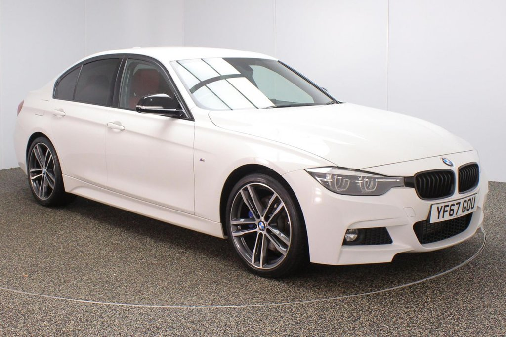 USED 2017 67 BMW 3 SERIES 2.0 320D M SPORT SHADOW EDITION 4DR AUTO 188 BHP FULL SERVICE HISTORY + HEATED LEATHER SEATS + SATELLITE NAVIGATION + HARMAN/KARDON PREMIUM SPEAKERS + PARKING SENSOR + BLUETOOTH + CRUISE CONTROL + CLIMATE CONTROL + MULTI FUNCTION WHEEL + DAB RADIO + PRIVACY GLASS + ELECTRIC WINDOWS + ELECTRIC DOOR MIRRORS + 19 INCH ALLOY WHEELS