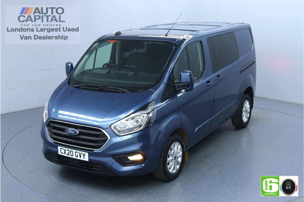 USED 2020 20 FORD TRANSIT CUSTOM 2.0 320 Limited Auto EcoBlue 130 Bhp L1 H1 6 Seats Combi Low Emission Eco Mode | Auto Start-Stop | Front and rear Parking distance sensors