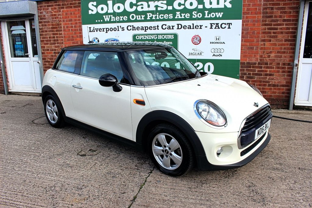 USED 2016 16 MINI HATCH COOPER 1.5 COOPER 3d 134 BHP +BLUETOOTH DAB +PEPPER WHITE.