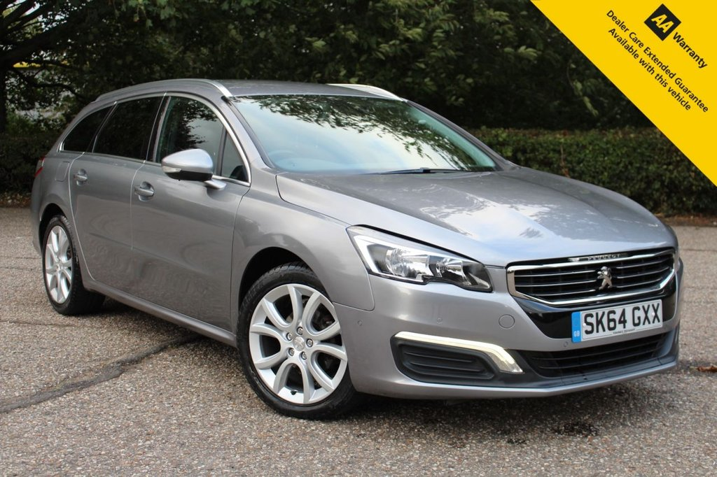 USED 2014 64 PEUGEOT 508 1.6 E-HDI SW ACTIVE 5d 115 BHP ** SUPERB FULL PEUGEOT MAIN DEALER SERVICE HISTORY ** LONG ADVISORY FREE MOT ** UPGRADED REAR PARKING CAMERA ** UPGRADED FRONT + REAR PARKING AID ** UPGRADED BLIND SPOT MONITOR SYSTEM ** SAT NAV ** CRUISE CONTROL ** CLIMATE CONTROL ** BLUETOOTH ** AUTO LIGHTS + WIPERS ** ONLY £30 ROAD TAX ** LOW RATE £0 DEPOSIT FINANCE AVAILABLE **